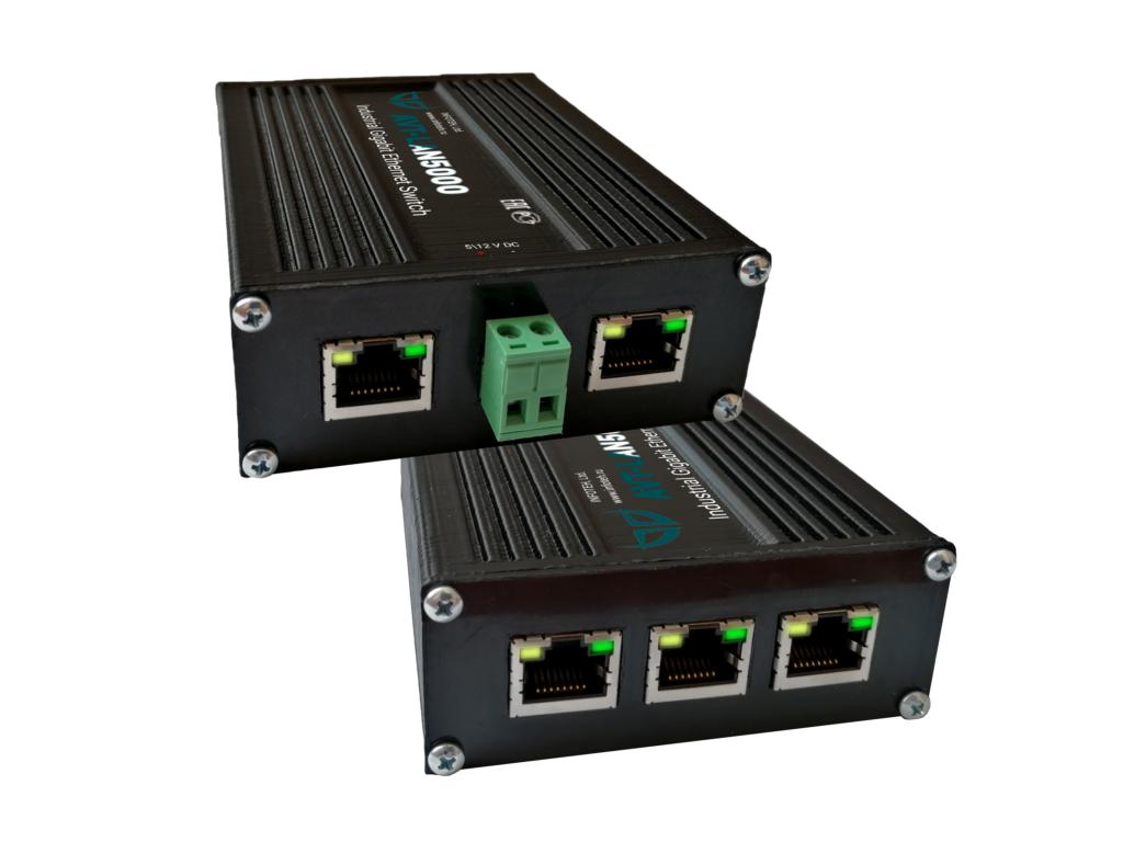 Промышленный 5-портовый неуправляемый коммутатор AVT-LAN5000