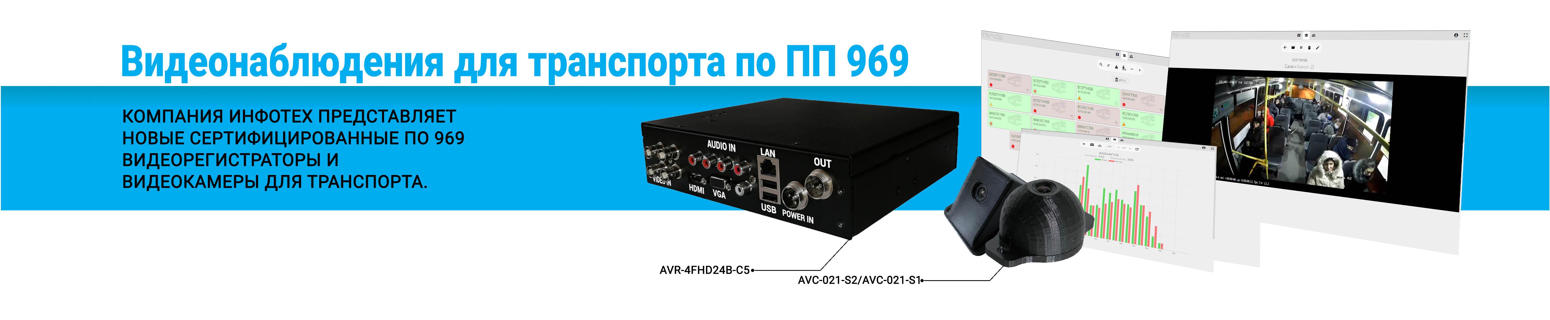 Новые комплекты видеонаблюдения для транспорта по ПП 969